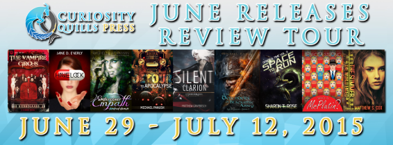 CURIOSITY QUILLS PRESS JUNE REVIEW TOUR