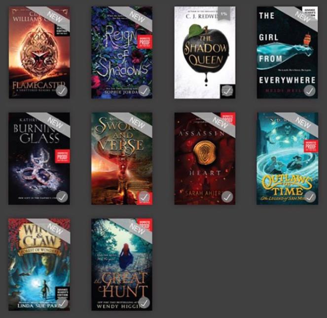 E-arc--weekly round up, creatyvebooks.com
